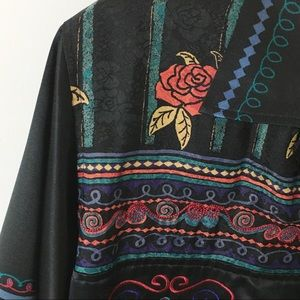 Chico's Design 100% Silk Jacket with Embroidery 1